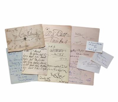 Lot 839 - Autograph Collection.- Miscellaneous
