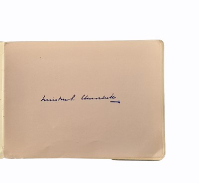 Lot 818 - Autograph Album.- Incl. Winston Churchill