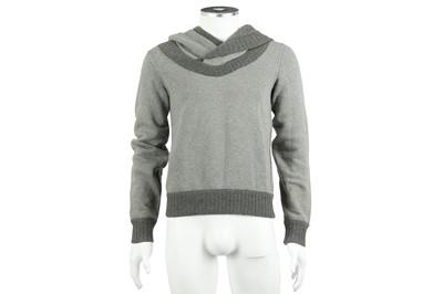 Lot 32 - Dolce & Gabbana Grey Cotton Hooded Jumper - Size 44