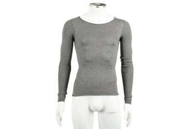 Lot 33 - Alexander Wang Grey Fine Knit Jumper - Size XS