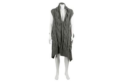 Lot 35 - Alexander McQueen Grey Wool Cable Cardigan