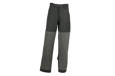 Lot 38 - Dolce & Gabbana Dark Grey Herringbone Trouser - Size 46