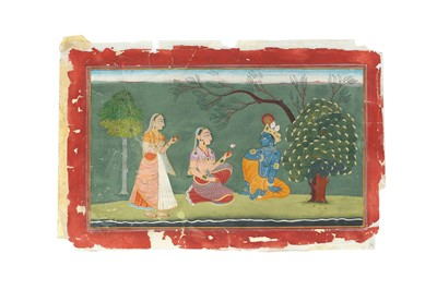 Lot 391 - KRISHNA AND RADHA MEETING IN A FOREST