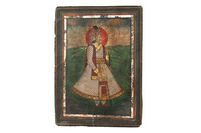 Lot 383 - A STANDING PORTRAIT OF MAHARAJA JAGAT SINGH (1786 - 1818)