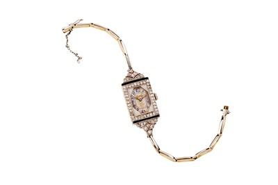 Lot 7 - An Art Deco diamond cocktail watch, circa 1930