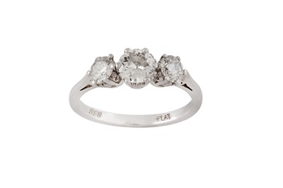 Lot 95 - A diamond three-stone ring