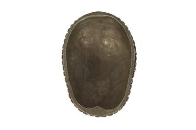 Lot 38 - A RESIN MODEL OF A TIBETAN KAPALA HUMAN SKULL CAP