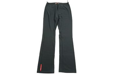 Lot 40 - Prada Slate Grey Bootcut Nylon Trouser - Size M