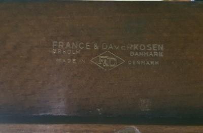 Lot 117 - OLE WANSCHER FOR FRANCE & DAVERKOSEN, DENMARK