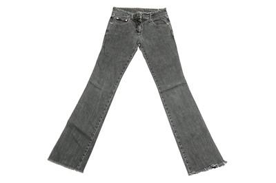 Lot 47 - Alexander McQueen Grey Faded Bootcut Jeans - Size 40