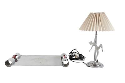 Lot 68 - AN ART DECO CHROME LAMP, EARLY 20TH CENTURY