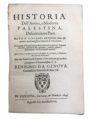 Lot 503 - Berdini (Vincenzo) Historia Dell' Antica, e Moderna Palestina....