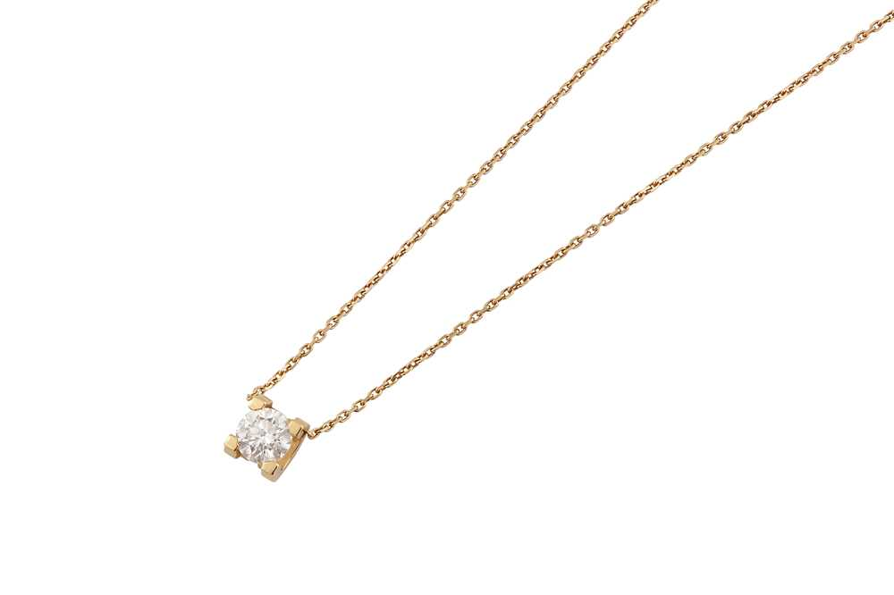 Lot 18 - Cartier | A 'C de Cartier' diamond pendant necklace