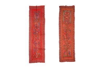 Lot 192 - A MATCHING PAIR OF PATEH PORTIERES