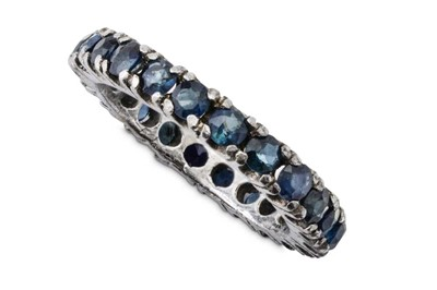 Lot 62 - A sapphire eternity ring