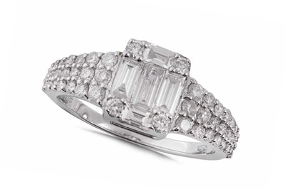 Lot 69 - A diamond dress ring