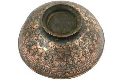 Lot 139 - A LARGE TINNED COPPER BOWL