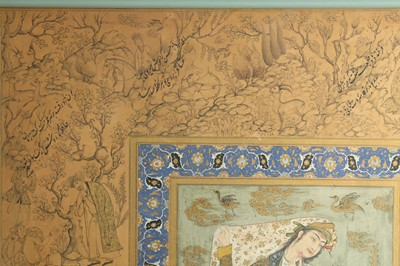 Lot 144 - TWO ARCHAISTIC SAFAVID-REVIVAL PORTRAITS