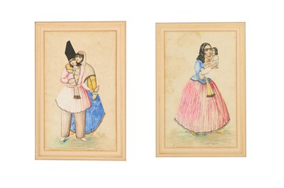 Lot 181 - TWO PORTRAITS: MOTHER AND CHILD AND THE LOVERS