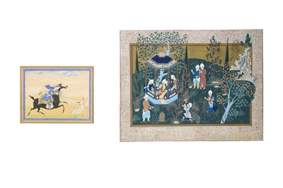 Lot 186 - TWO ARCHAISTIC SAFAVID-REVIVAL PAINTINGS