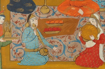 Lot 341 - TWO ILLUSTRATED FOLIOS WITH INTIMATE BANQUETING SCENES