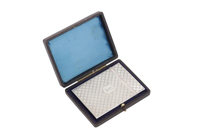 Lot 49 - A cased early Victorian sterling silver card case, Birmingham 1838 by Nathaniel Mills