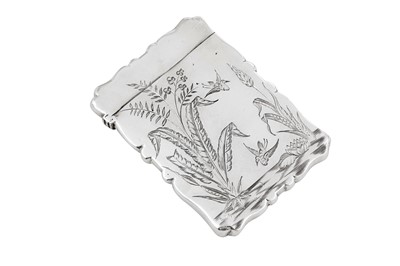 Lot 44 - A Victorian sterling silver card case, Birmingham 1880 by Frederick Marson