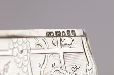 Lot 42 - A Victorian sterling silver card case, Birmingham 1852 by David Pettifer