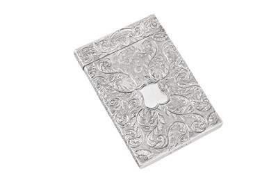 Lot 41 - A William IV sterling silver card case, Birmingham 1831 by Taylor and Perry