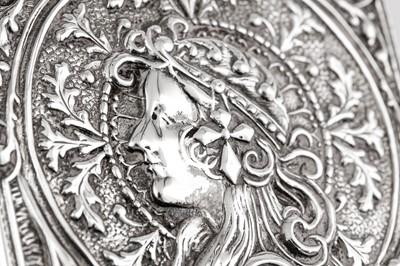 Lot 40 - An Edwardian sterling silver card case, Birmingham 1905 by Robert Pringle & Sons