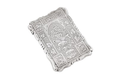 Lot 38 - A Victorian sterling silver card case, Birmingham 1860 by Alfred Taylor