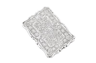 Lot 37 - A private collection of card cases, lot 37-52: A Victorian sterling silver card case, Birmingham 1871 no makers mark