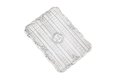 Lot 45 - A Victorian sterling silver card case, Birmingham 1855 by Edward Smith