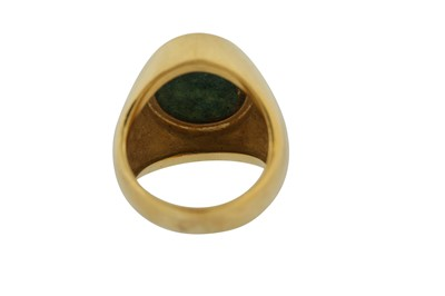 Lot 116 - A GOLD RING WITH A POLYCHROME-PAINTED ENAMEL PORTRAIT OF FATH 'ALI SHAH (R.1797 - 1834)