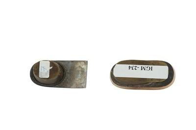 Lot 129 - TWO PEN CASE INKWELLS (DAWAT)