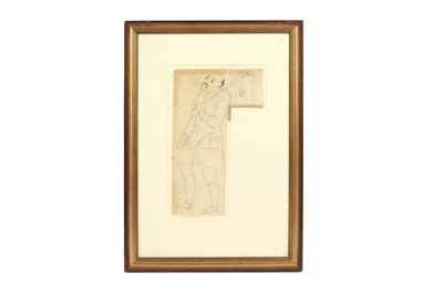 Lot 342 - A DRAWING OF AN ITINERANT CENTRAL ASIAN DERVISH