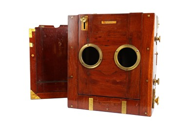 Lot 30 - A Lancaster Whole Plate Tailboard Mahogany & Brass Camera