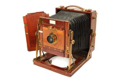 Lot 32 - A Sanderson Half Plate Mahogany & Brass Field Camera