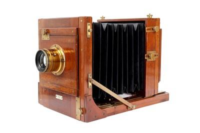 Lot 35 - An Early Gandolfi Half Plate Tailboard Mahogany & Brass Camera