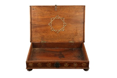 Lot 315 - λ AN HISPANO-MORESQUE IVORY, STAINED WOOD AND BONE-INLAID PORTABLE DOCUMENT HOLDER