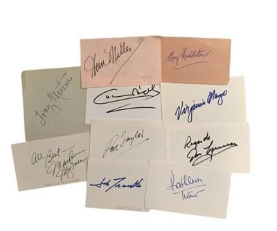 Lot 828 - Autograph Collection.- Actors & Actresses