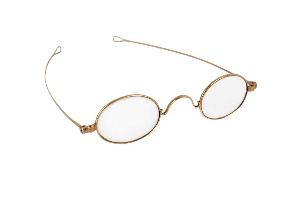 Lot 35 - A PAIR OF 19TH CENTURY 14 CARAT GOLD SPECTACLES, 19TH CENTURY