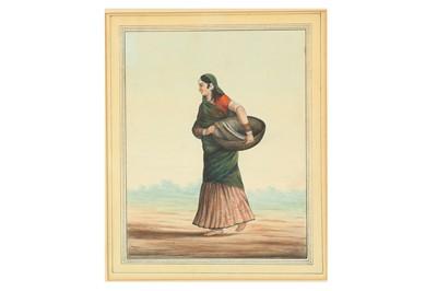 Lot 371 - A GUJARATI VILLAGE WOMAN