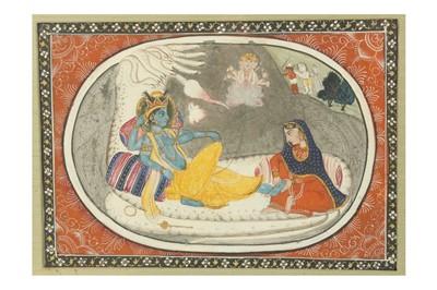 Lot 392 - THE CREATION OF THE UNIVERSE: VISHNU ANANTASHAYANA