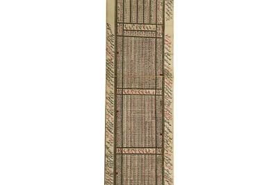 Lot 332 - AN OTTOMAN CALENDAR SCROLL FOR THE YEAR 1281 AH (1864-5)