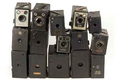 Lot 9 - Group of 15 Box Cameras, inc Uncommon Gap Model.