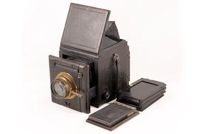 Lot 11 - Butcher's Popular Pressman Plate Camera with Ross Lens.