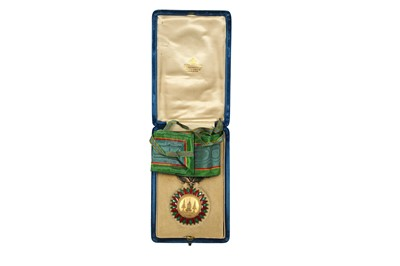 Lot 367 - A GILT AND GUILLOCHÉ ENAMELLED ORDER OF THE CROWN OF THAILAND MEDAL