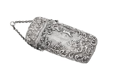 Lot 53 - A Victorian sterling silver cheroot case Birmingham 1848 by William Dudley