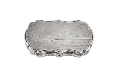 Lot 25 - A Victorian sterling silver vinaigrette, Birmingham 1849 by Nathaniel Mills